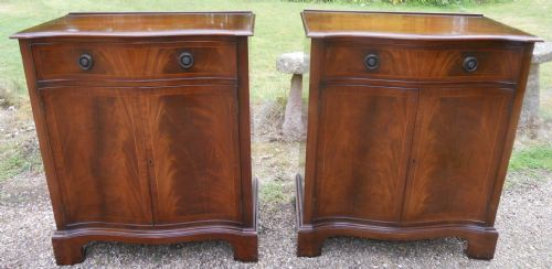 Pair Mahogany Side Cupboards by Rackstraw